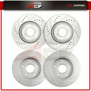 Front 282mm And Rear 259 7mm Brake Discs Rotors For Honda Prelude 1997 2001 4x
