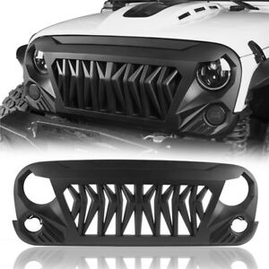 Matte Black Gladiator 2nd Gen Grille Replacement For Jeep Wrangler Jk 2007 2018