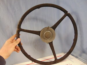 1935 1936 Era Ford Car Steering Wheel Horn Button As Found Rat Rod Man Cave