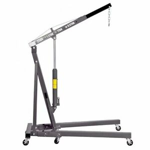 2 Ton Engine Motor Hoist Shop Crane Lift Heavy Duty Garage Tool 4000 Lb Capacity
