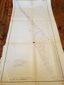 1881 Coast And Geodetic Survey Map Progress Sketch East Coast Of Florida Rare
