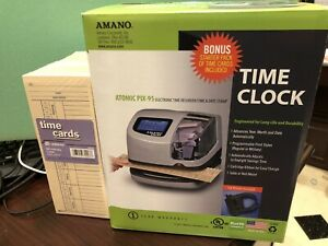 Amano Atomic Pix 95 Electronic Time Recorder time Date Stamp Clock