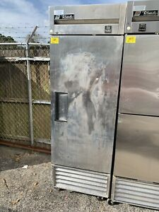 True Ts 23f Stainless Reach in Freezer 1 Door 23 Cu Ft Right Hinged
