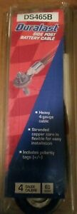 Duralast Ds465b Side Post Battery Cable 4 Guage 65 Inches New