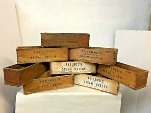 Vintage Wood Axelrod S Cream Cheese Wooden Boxes
