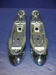 Nos Gm 1949 Buick Lh Rh Fender Parking Lamp Light Bases Ct29