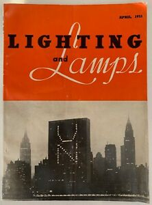 Rare Vintage 50s Lighting And Lamps Magazine Mid Century Modern April 1951