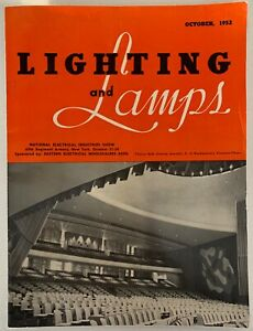 Rare Vintage 50s Lighting And Lamps Magazine Mid Century Modern October 1952