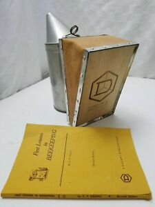 Vintage Unused Nos Dadant Bee Smoker Book Bee Keeper Starter Kit Wood Leather