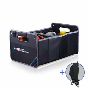Bmw m Car Trunk Organizer Auto Collapsible Cargo Storage Embroidery Container