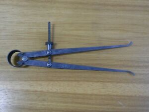 Vintage Lufkin Inside Calipers Machinist Tools 9 Inches