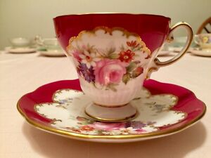 Foley Bone China Made In England Tea Cup And Saucer