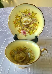 Poppy Foley Bone China Made In England Tea Cup And Saucer