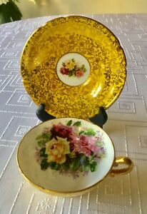 Vintage Stanley Bone China Made In England Tea Cup Saucer