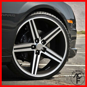 20 Iroc Wheel Black Machine 5 120 Or 5 127 Et 10 Fit El Camino Caprice
