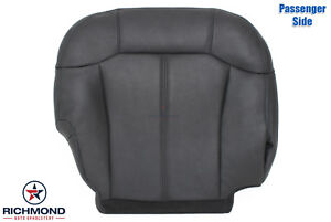 2000 Chevy Silverado 1500 Z71 passenger Side Bottom Leather Seat Cover Dark Gray