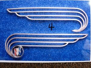 Fender Skirt Emblem4 Rat Hot Rod Truck Chevy Plymouth Merc Ford Dodge Buick Cad