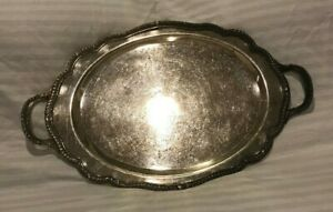 F B Rogers Silver Co Serving Tray Platter Vintage Silverplate Antique Plate