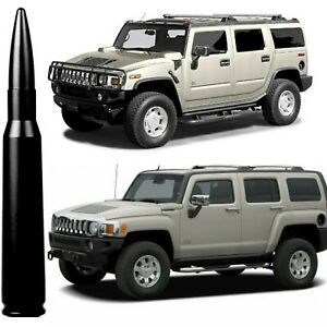 50 Caliber Black Bullet Antenna For Hummer H2 And H3 All Years Billet Aluminum