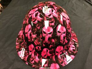 New Full Brim Hard Hat Custom Hydro Dipped Pink Punisher Free Shipping