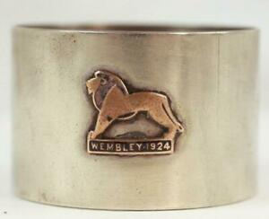 Vintage 1924 British Empire Exhibition At Wembley Silver Plate Napkin Ring