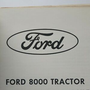 Ford 8000 Tractor Service Manual Missing Last Page Cover Page
