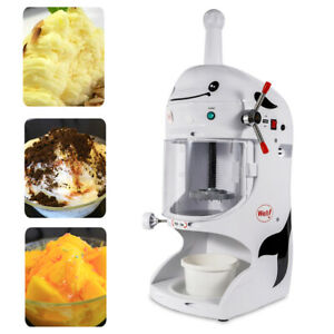 Commercial Electric Ice Crusher Shaved Ice Shaver Snow Cone Maker Machine 90kg h