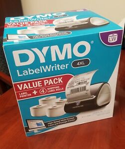 Dymo 4xl Label Writer With Four 4 x6 Rolls Included brand New Still In Box