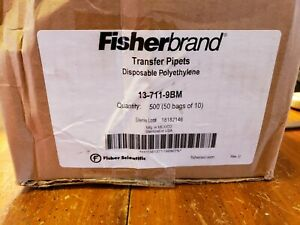 Fisherbrand Transfer Pipets Disposable Polyethylene 13 711 9bm 500ct 50 Bags Of