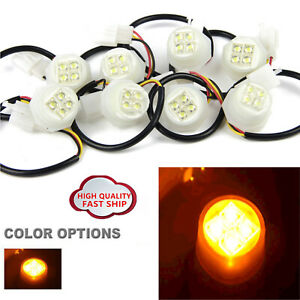8 Led Hide A Way Flash Strobe Replacement Spare Headlight Bulbs Yellow Amber