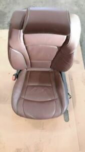 18 Buick Enclave Avenir Front Driver Brown Leather Seat 13843