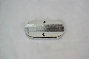 Chrome Finned Flat Top Master Cylinder Cover Replacement New