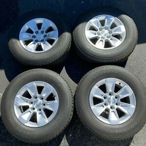 2019 Chevy Silverado Factory 17 Wheels Tires Rims Oem Suburban Tahoe 23377010