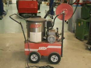 Used Working Hotsy Hot Water Pressure Washer Small Leak In Coil