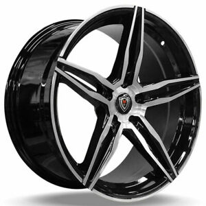 4rims 18 Staggered Marquee Wheels M8888 Gloss Black Machined Rimsfs