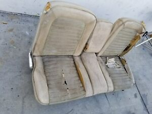 1965 1968 Mustang Front Bench Seat W folding Armrest Rare