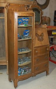 Antique Tiger Oak Secretary