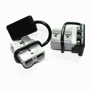 2x Gray Battery Quick Connector Kit 50a Plug Connect Disconnect Winch Trailer