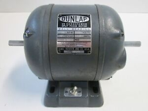 Vintage Dunlap Sears Craftsman Electric Motor 1 3 Hp 6 Amp 1725 Rpm Cw Or Ccw
