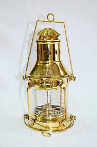 Nautical Brass Ship Oil Lamp Boat Lantern Maritime Collectible Home Decor Gift