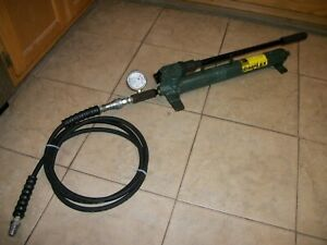 Simplex Hydraulic Hand Pump With 10 000 Psi Gauge And Hose Nice Unit Look