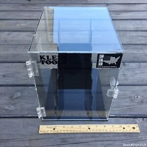 Klein Tools Clear Acrylic Display Case Transparent Plexiglass Dustproof Lockbox