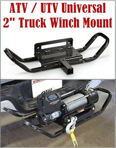 Universal Winch Mount Plate 2 Receiver Hitch With Handle Atv Utv
