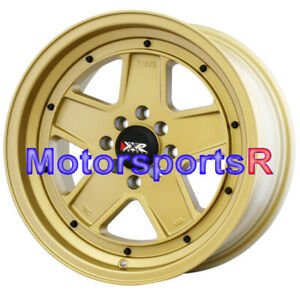 Xxr Wheels 532 16 X8 20 Gold Rims 5 Spokes 4x100 Stance Honda Civic Crx Del Sol