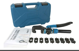 Temco 12ga 2 0 Hydraulic Lug Crimper Tool Electrical Battery Terminal Cable Wire