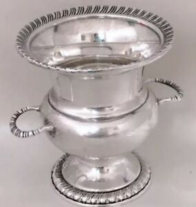 Vintage Mueck Cary Sterling Silver Small Urn Vase Cigarette Toothpick Holder