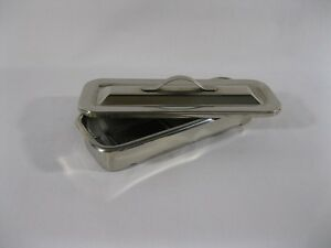 Medical Instrument Catheter Tray W Lid Stainless Steel 8 3 4 X 3 1 4 X 1 1 2