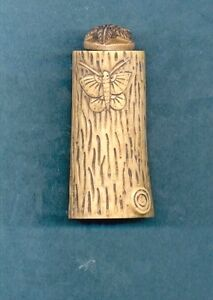 Butterfly Hand Carved Snuff Bottle With Spoon Large Size 912 2 B
