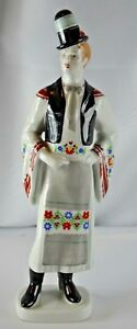 Hollohaza Hungary Man In Top Hat Figurine 1831 Handpainted Folk Art Porcelain 82
