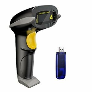 Wireless Barcode Scanner Automatic Bar Code Usb Receiver Cordless Laser Tool New